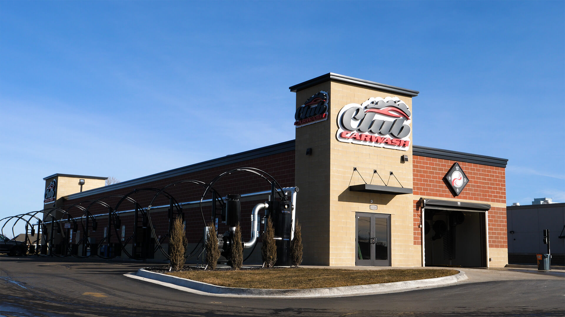 front of new wichita kansas location with clear blue sky
