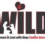 women in love with dogs canine rescue logo